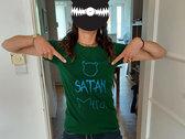Satan Merde Bottle Green T-Shirt photo