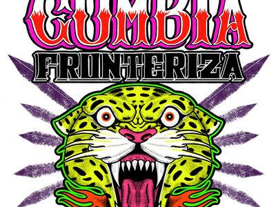 """White T-Shirt """"Pura Cumbia Fronteriza"""" main photo"""