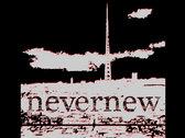 NEVERNEW Sky Won't Care logo t-shirt photo