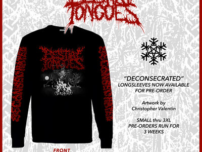 """BESTIAL TONGUES """"DECONSECRATED"""" LONGSLEEVE (S-XL) - PRE-ORDER main photo"""