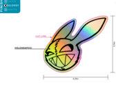 Murder Bunny Holo-Sticker photo