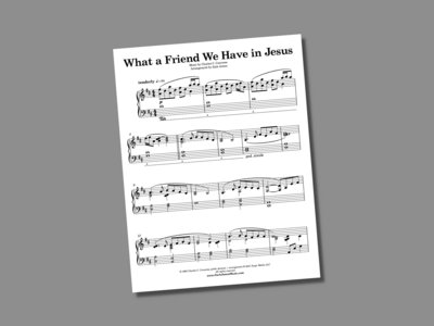 What a Friend We Have in Jesus (sheet music) main photo