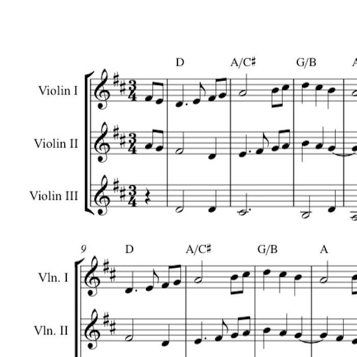 The First Noel - Harmony Sheet Music | Celtic Fiddle Music | Georgia ...