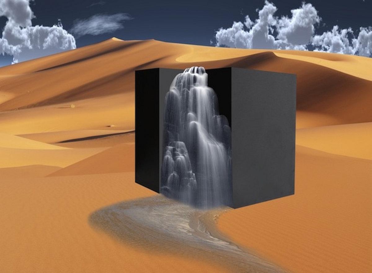 Cube in the desert