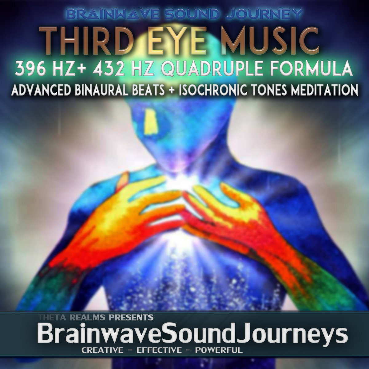 Theta Binaural Beats Third Eye Music (DEEP THUNDER SOUNDS
