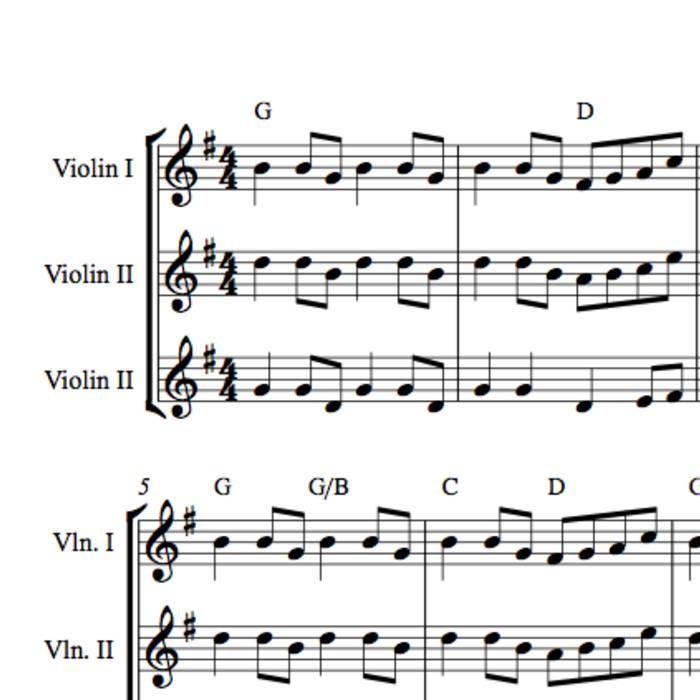 Free Sheet Music Recorder Trios