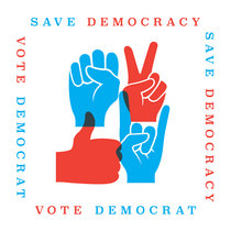 Save Democracy, Vote Democrat cover art