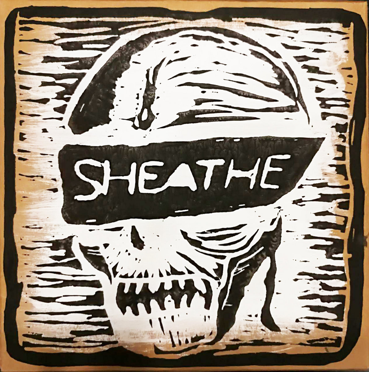By sheathe