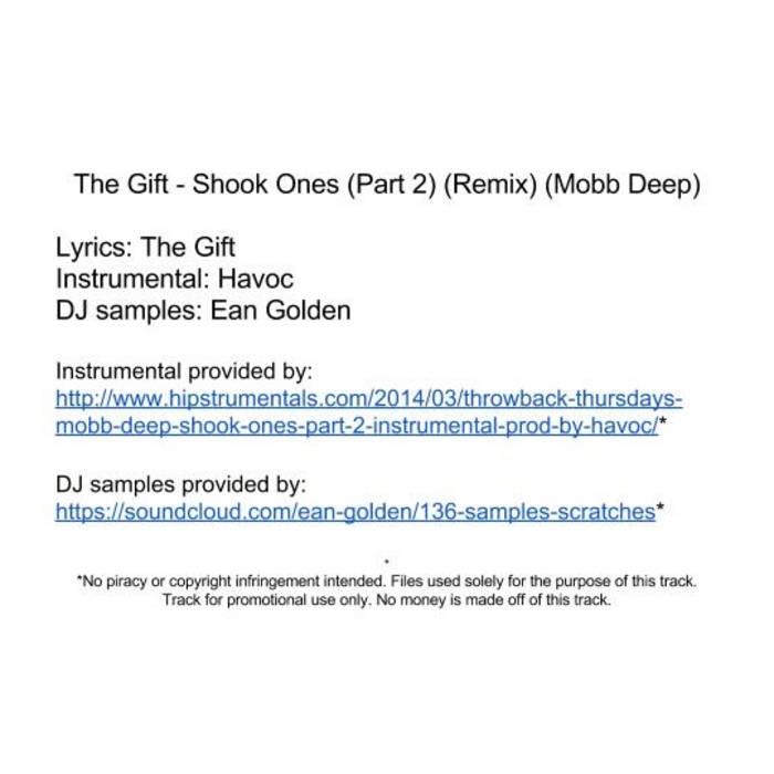 Lyric mobb deep shook ones part 2 lyrics : Shook Ones (Part 2) (Remix) (Mobb Deep) | The Gift