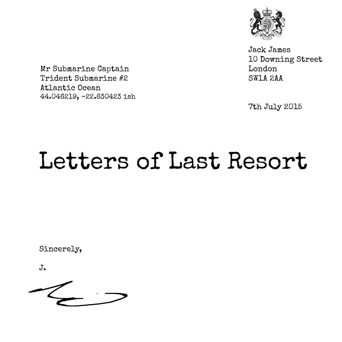 letters of last resort jack james