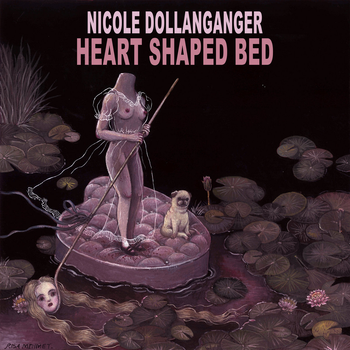 Heart Shaped Bed Side A Nicole Dollanganger