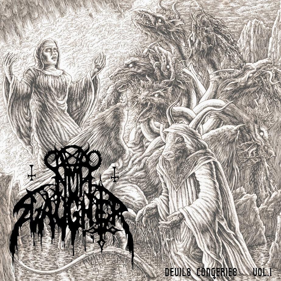 Nunslaughter Hells Unholy Fire 2000 Album T-Shirt