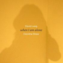 when I am alone cover art