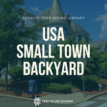 Town Sounds American Suburb Backyard Morning Ambience cover art