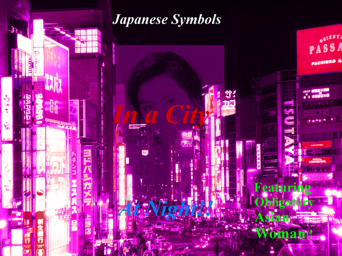 Japanese Symbols In A City At Night Downvote Music