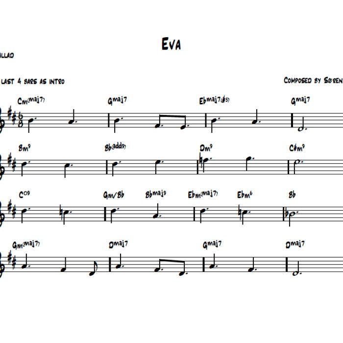 Piano piano trio sheet music : Sheet Music for the album