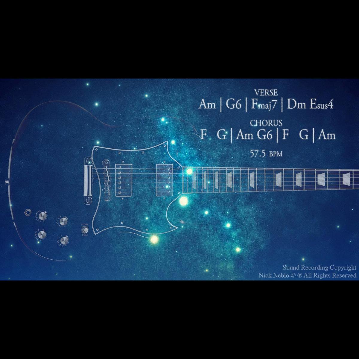 Space Rock Ballad Guitar Backing Track A Minor Jam | Nick