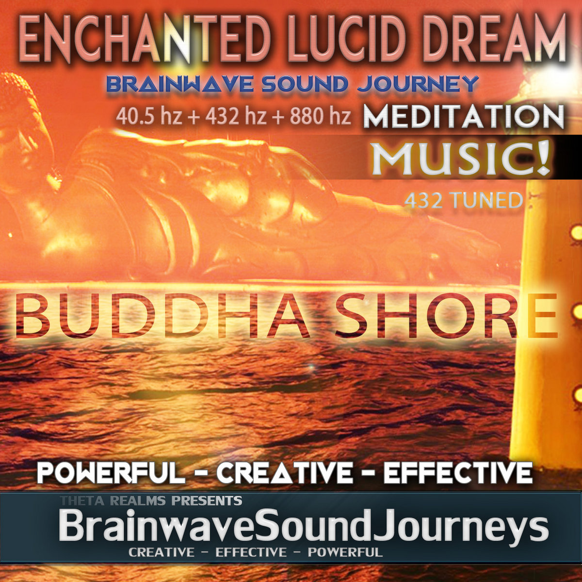 BUDDHA SHORE: Lucid Dreaming Meditation Music | Theta Realms