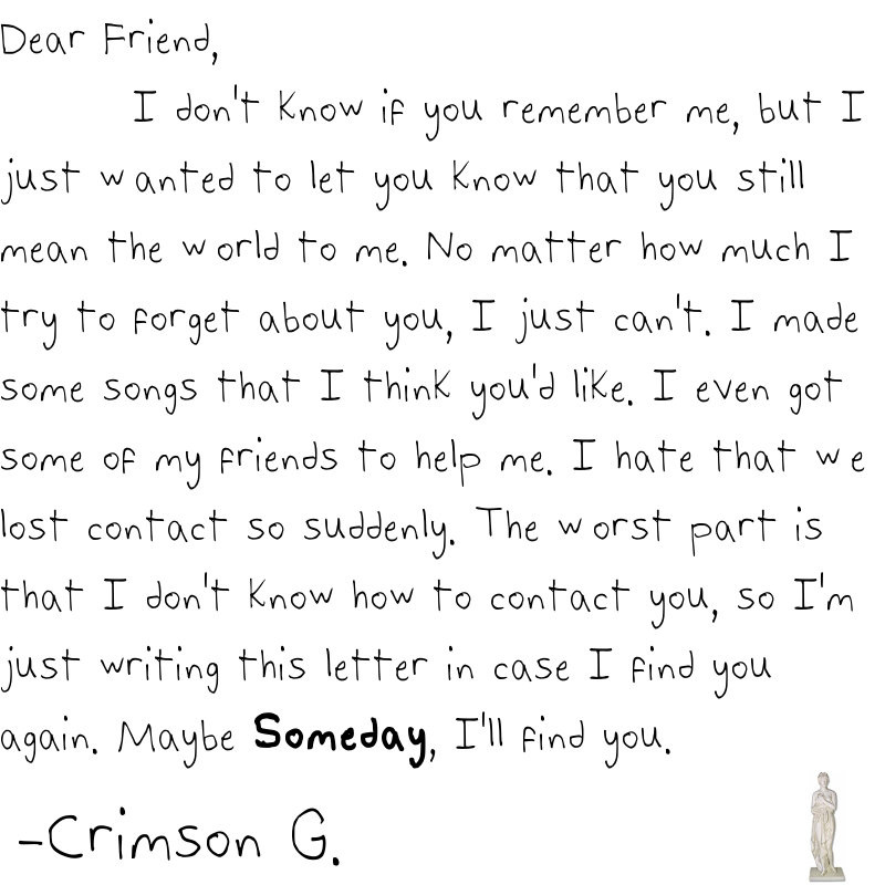 A Letter to an Old Friend | Crimson Gale