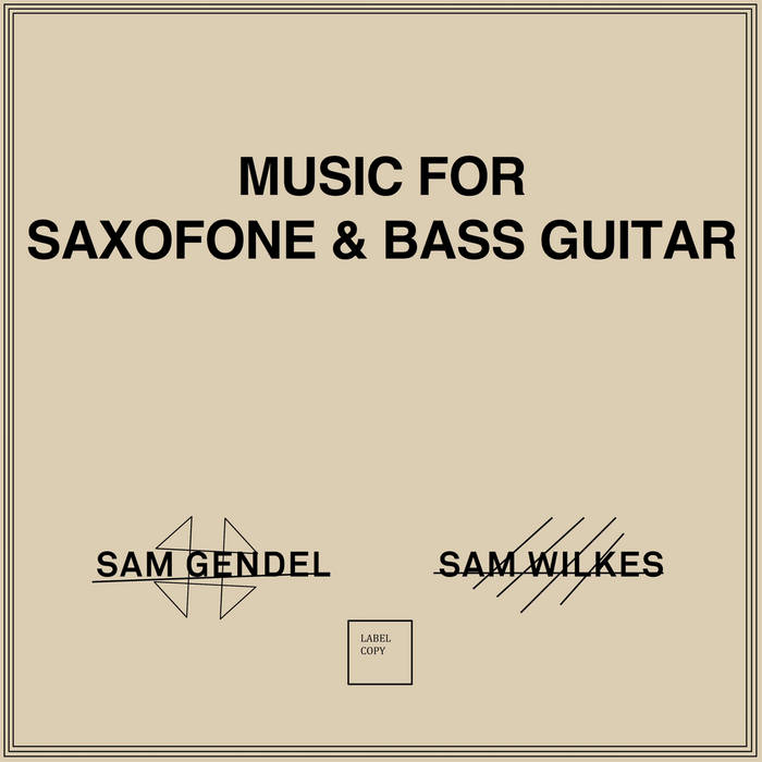Music For Saxofone & Bass Guitar