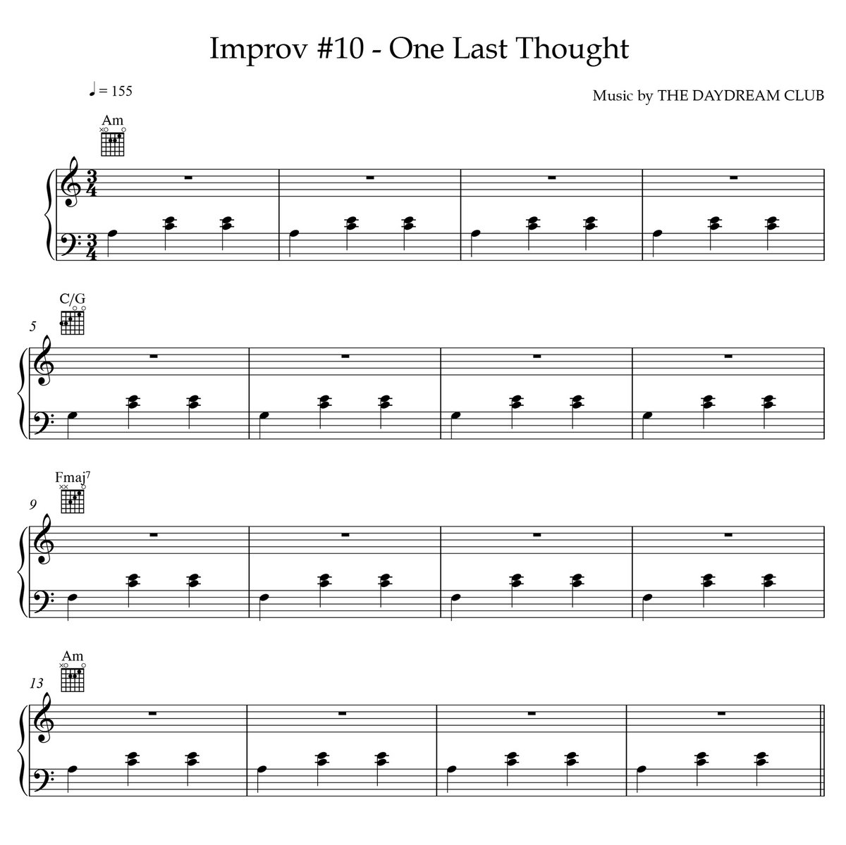 Improv #10 - One Last Thought (Sheet Music + Track Download) | The