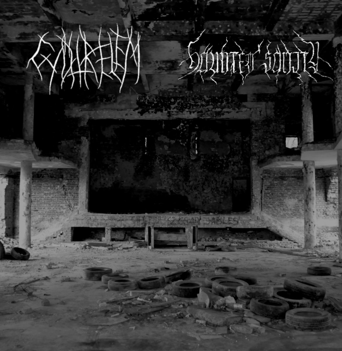 gyotrelem haunted sanity split album black metal le scribe du rock