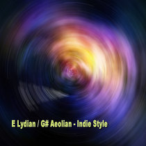 Slow Brooklyn Indie Rock Backing Track [E Lydian G# / Aeolian - 65 BPM] cover art