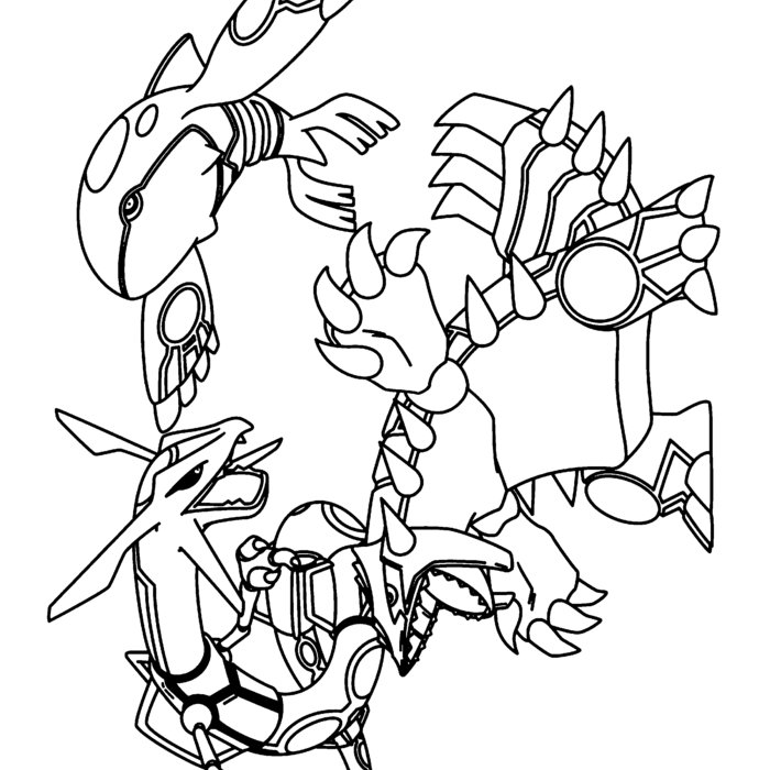 Primal Kyogre Coloring Page pokemon colouring pages groudon: 1399 best lineart: pokemon