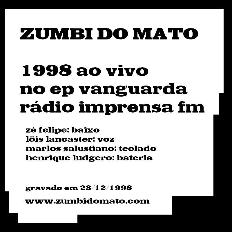 1998 Calendario.Calendario 1999 Zumbi Do Mato