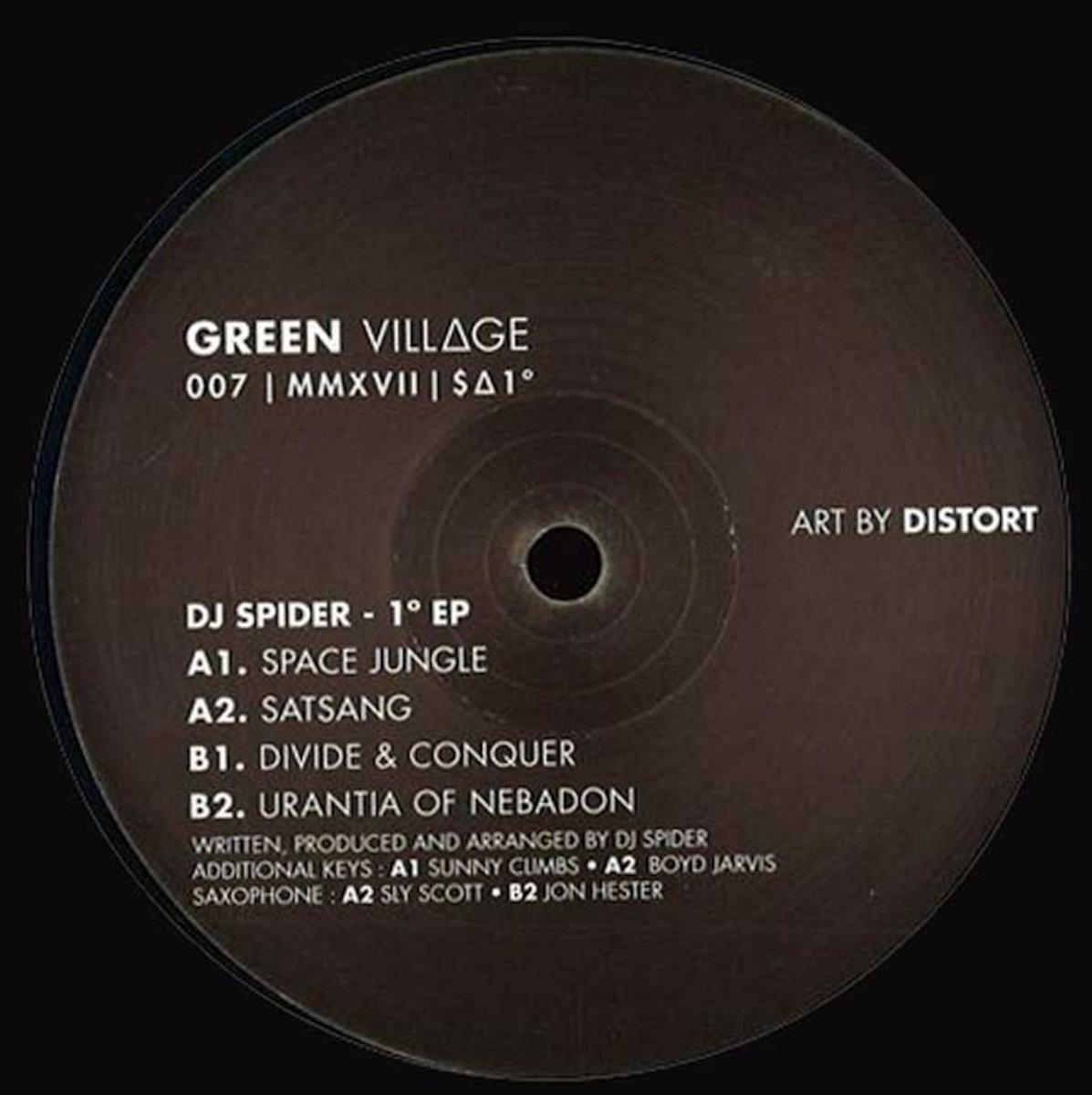 Dj Spider 1 176 Green Village 12 Quot Vinyl 2017 Spider Music