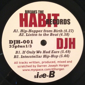 "HIP HOPPER FROM BIRTH E.P. VINYL 12"" by DARREN J HORGAN"