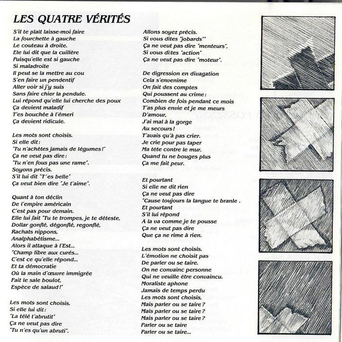 Les Quatre Vérités Jean Jacques Birgé