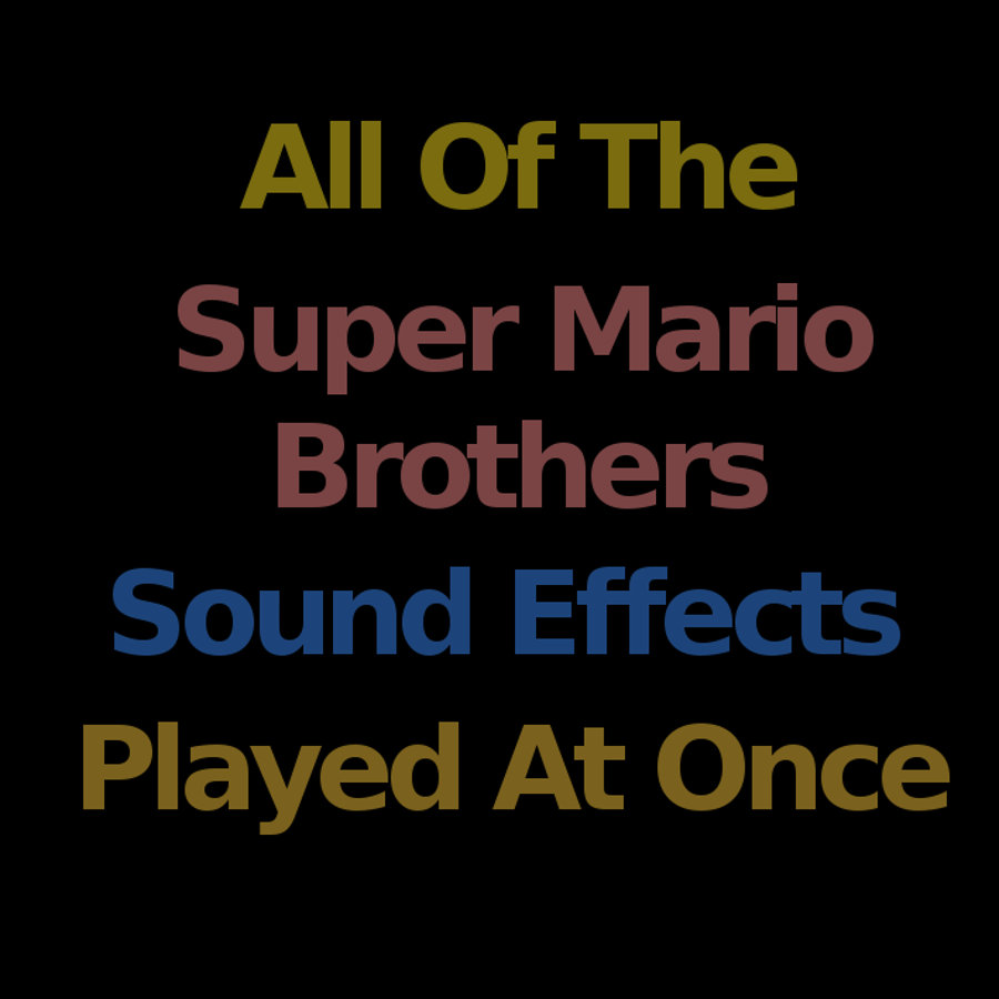 every super mario brothers sound effect at once cheesy nirvosa