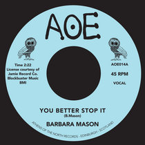 Barbara Mason - You Better Stop / Do I love You cover art