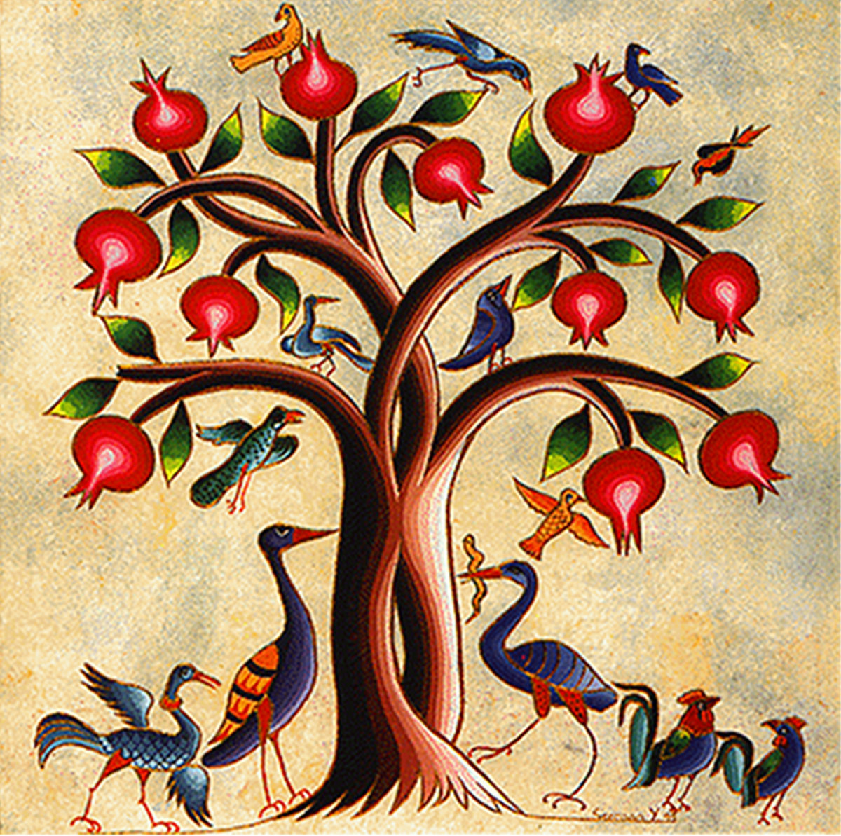 The Pomegranate Tree Bird People