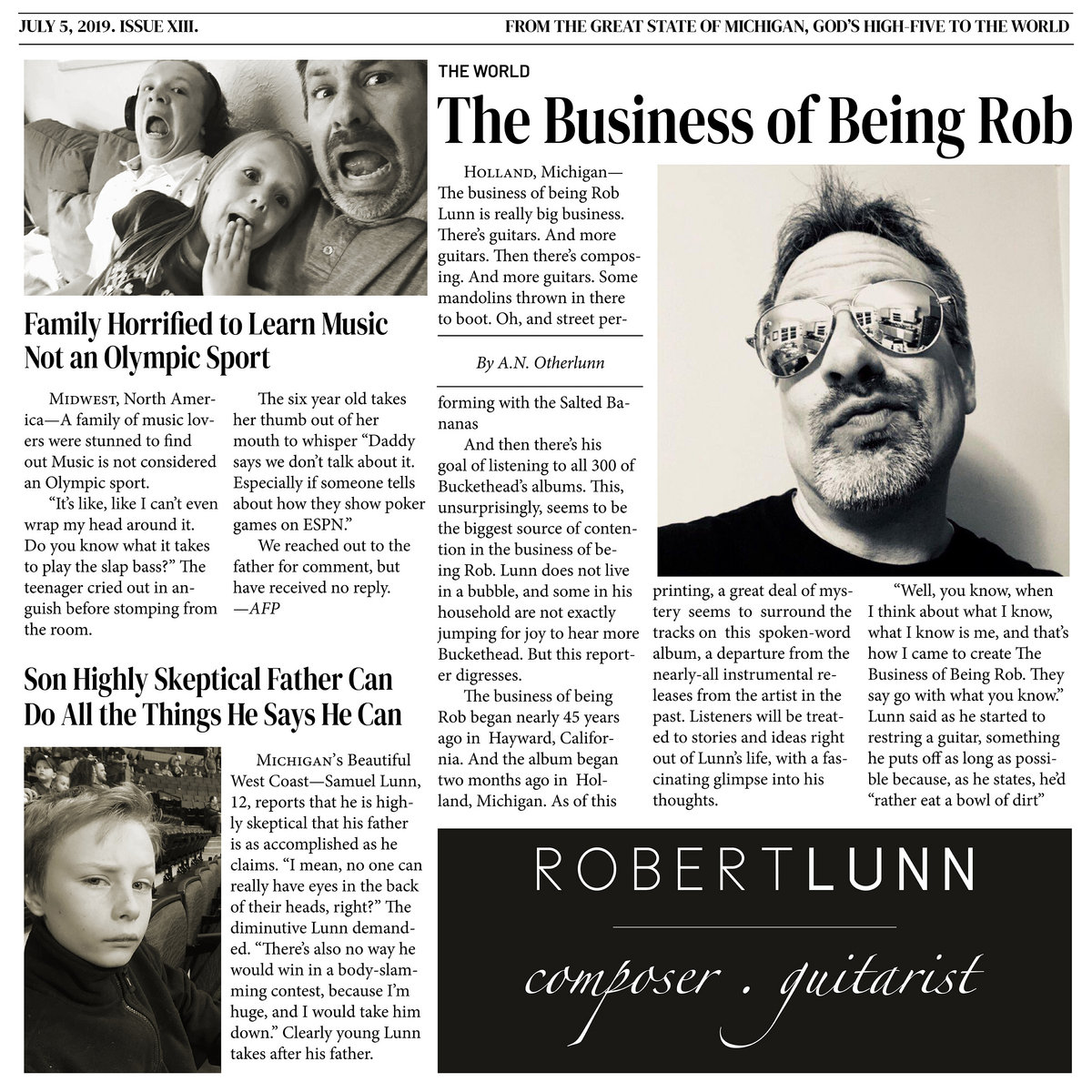 The Business of Being Rob | Robert Lunn Composer