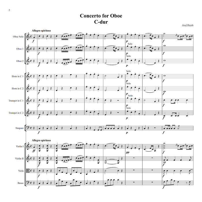 All Music Chords haydn trumpet concerto sheet music : Haydn - Oboe Concerto in C major Hob.VIIg:C1 | Minus Music