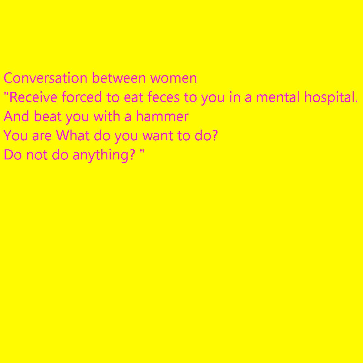 Conversation between women