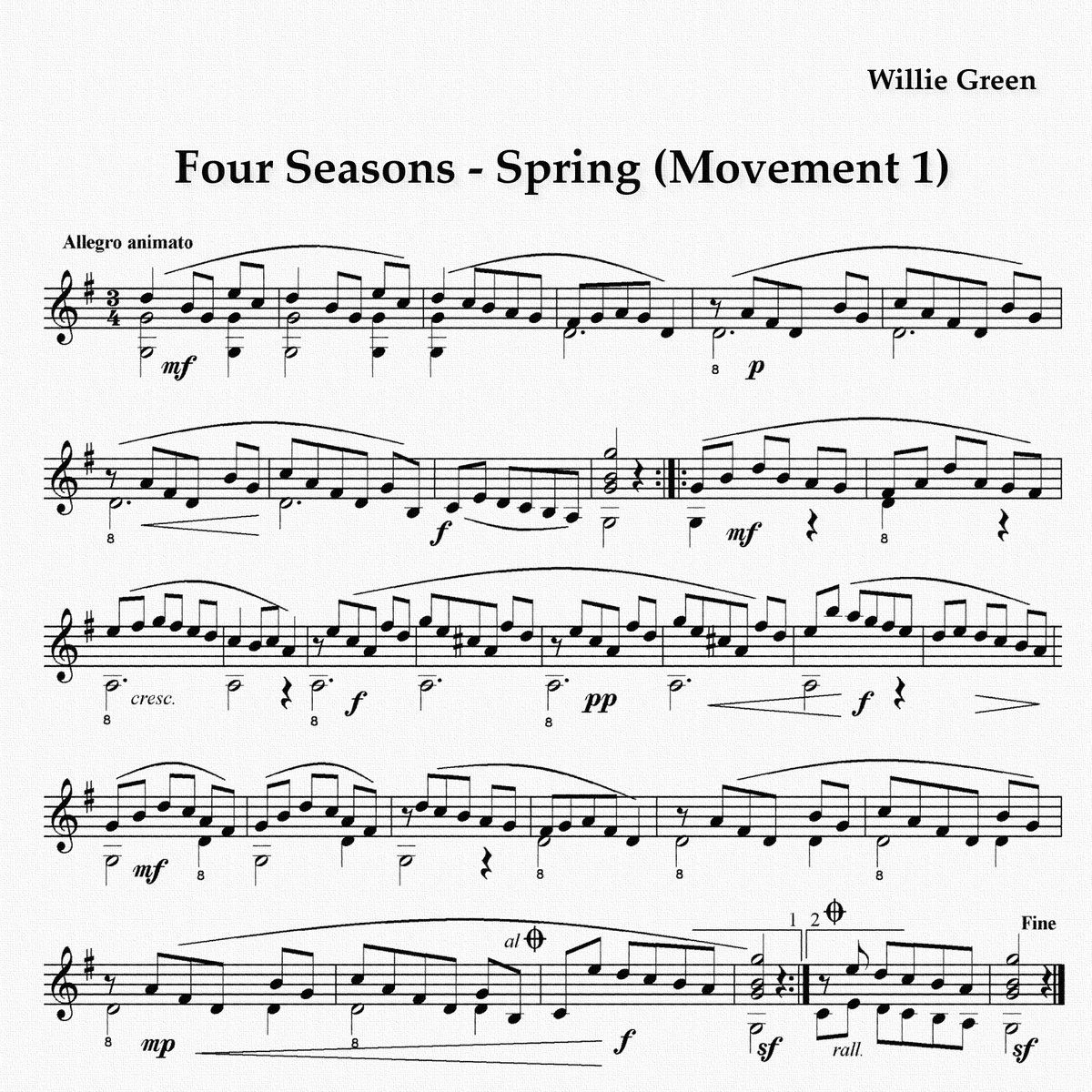 Spring (first movement: Allegro)
