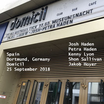 Spain Domicil Dortmund, Germany 25 September 2018 With Petra Haden, Jakob Hoyer cover art