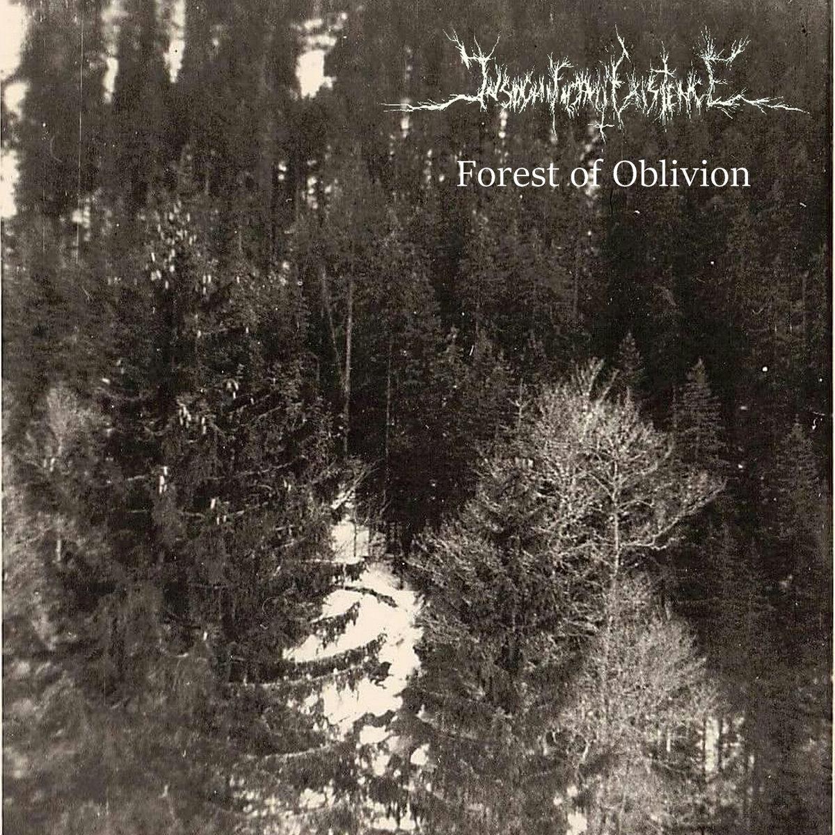 insignificant existence forest of oblivion dsbm black metal atmosphérique le scribe du rock