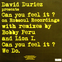 David Duriez - Can You Feel It ? - Robsoul Recordings cover art