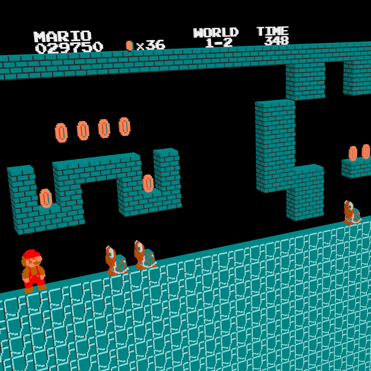 Super Mario Bros  - Underground Theme (Remix) [Arachno SoundFont