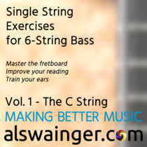 Single String Exercises for 6-String Bass Vol.1 - The C String cover art