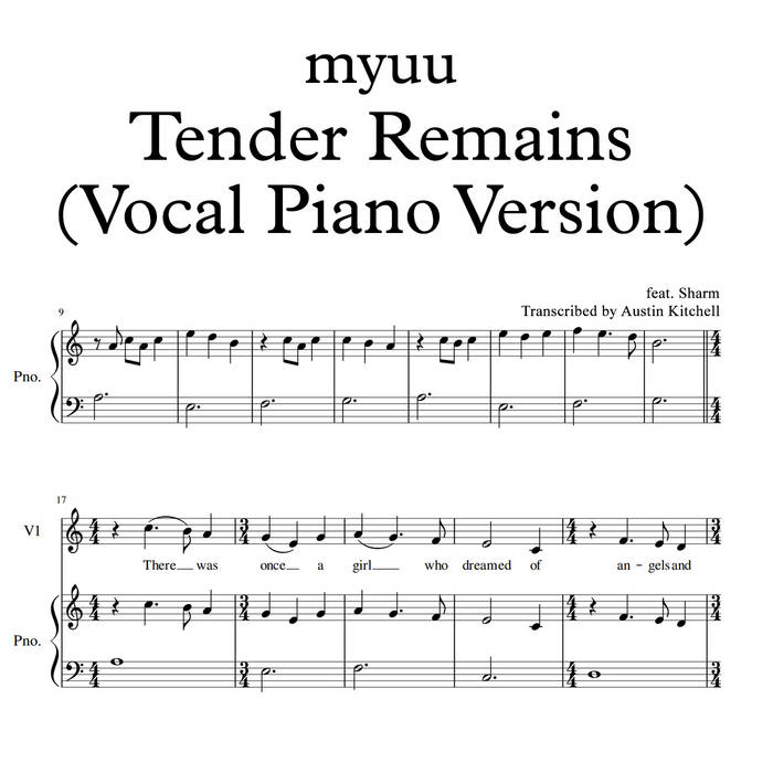 Tender Remains (Vocal Piano Version)