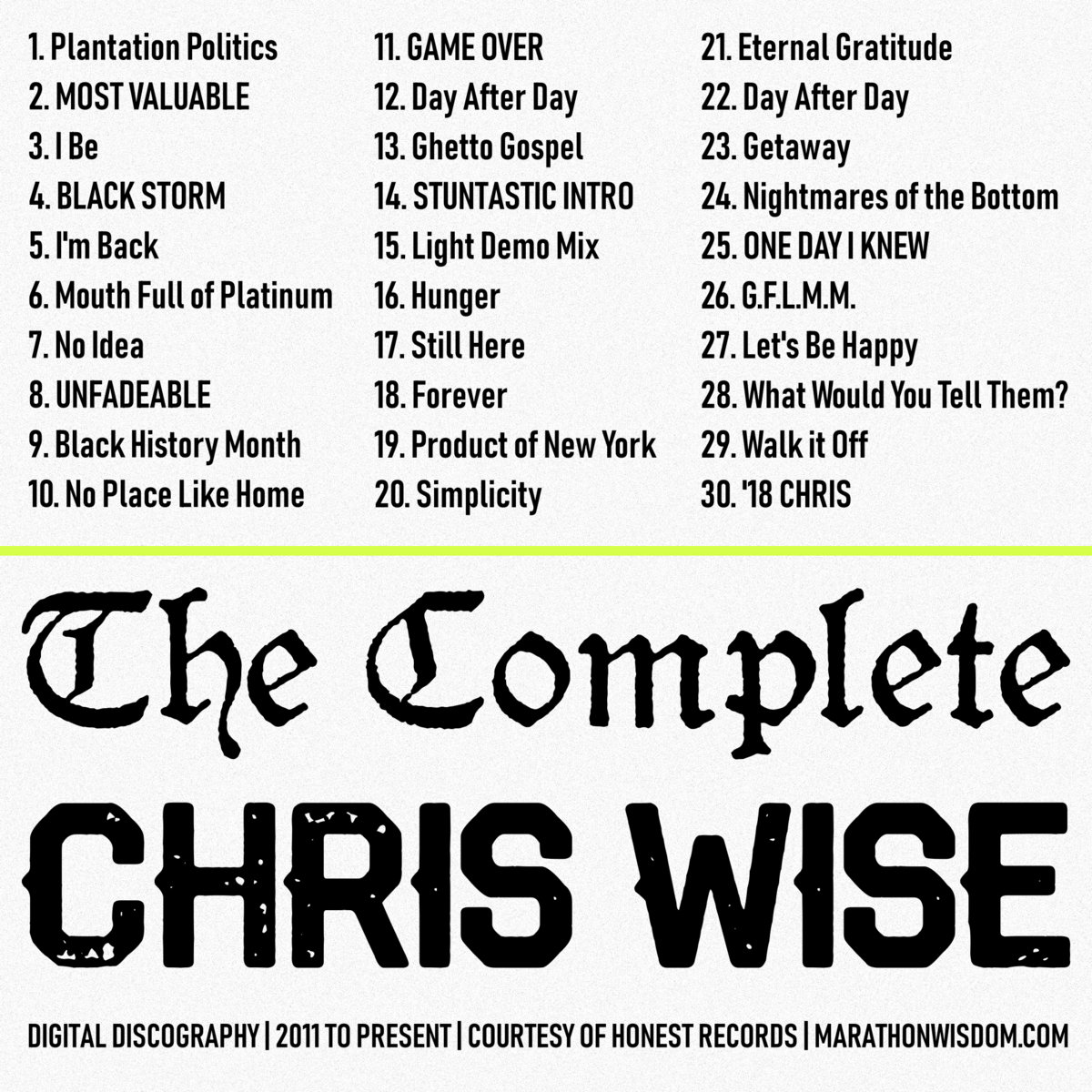 From The Complete CHRIS WISE By