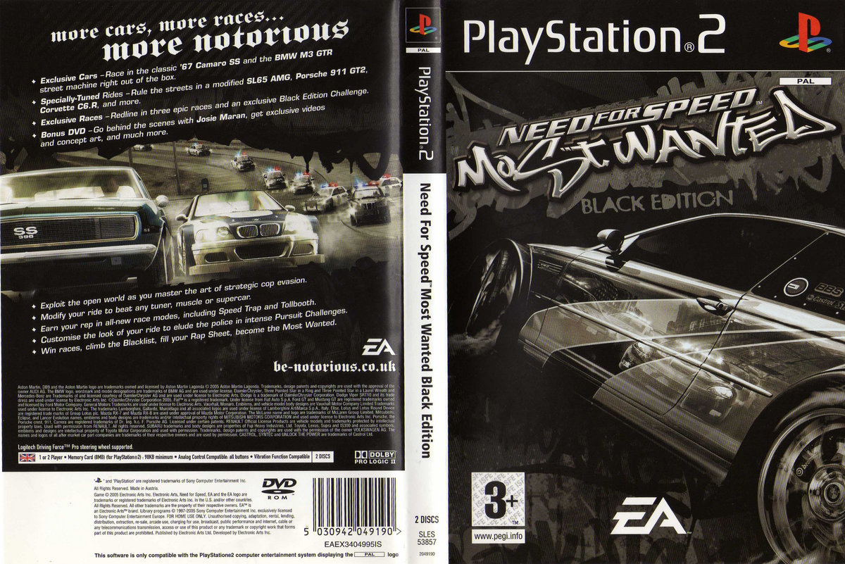 need for speed most wanted black edition - nfs mw racing 2005