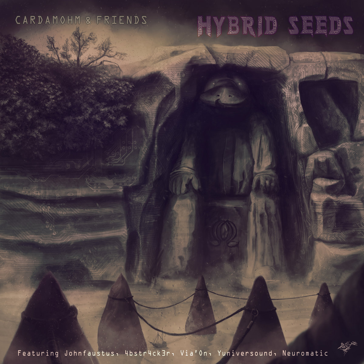 Cardamohm - Hybrid Seeds EP, artwork by BaBa Shikoine