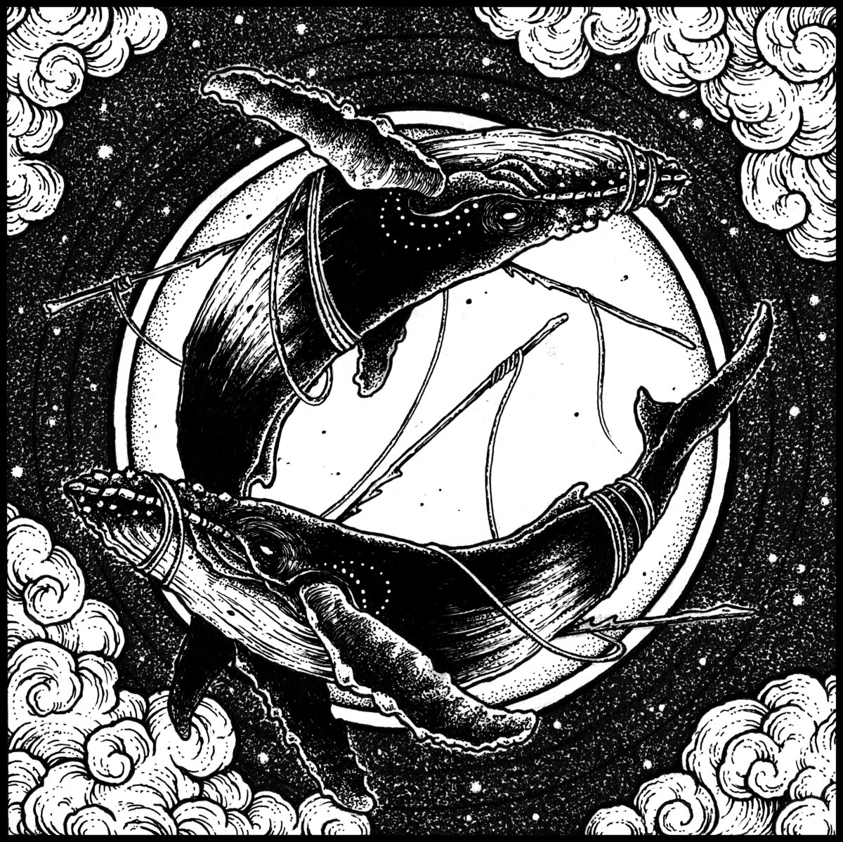 Cover Whales At The Crossroads - Black Owls