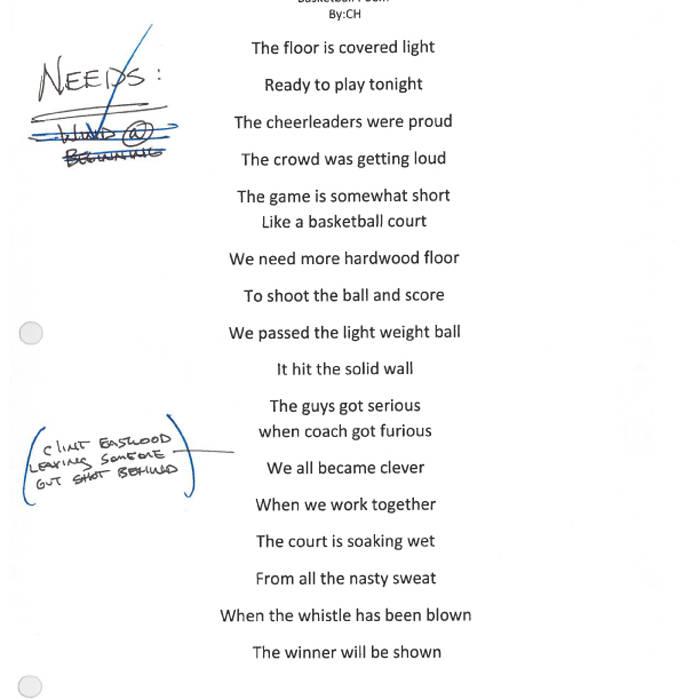 Ideal Basketball Poem by CH | dblfstudios IV26